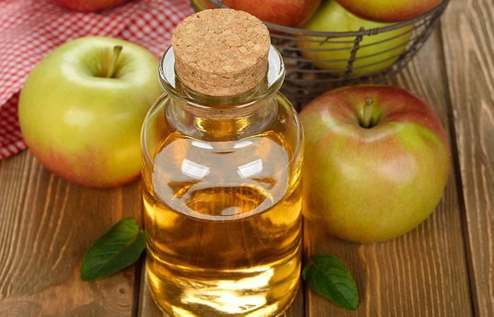 В бутылке яблочный уксус